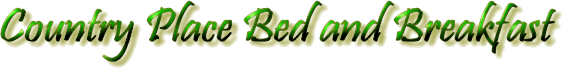 Country Place Bed and Breakfast title graphic